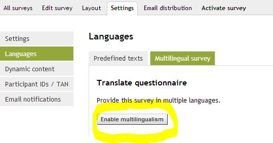 Enable multilingualism II