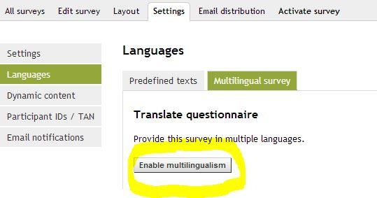 Enable multilingualism II