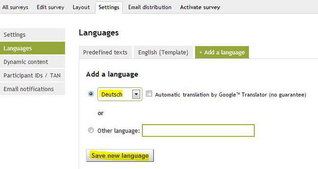 Save new language II