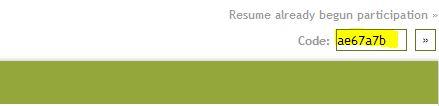 Resume code II