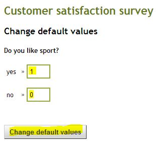 Change default values III
